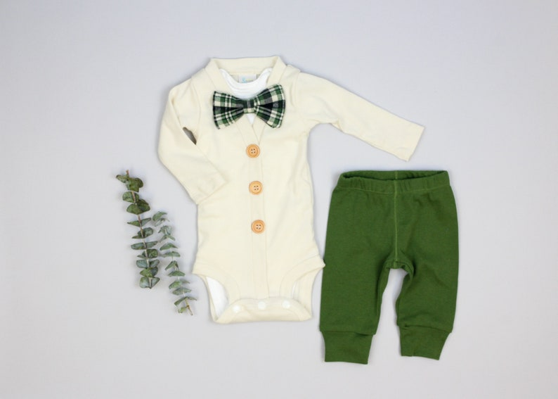 45399fa80853 9m ONLY Classic Baby Boy Clothes. Cream   Olive Spring or St.
