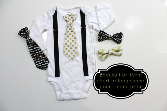 d630c9b073cb New Years Baby Boy Outfit. Black and Gold Outfit. New years