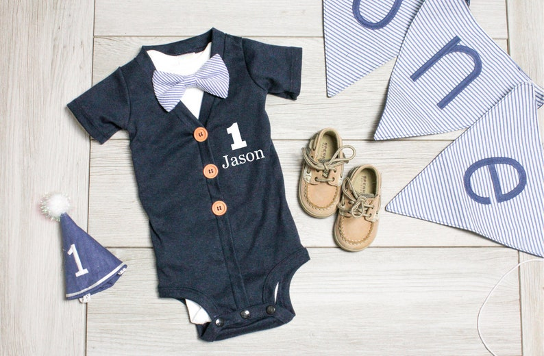 c225dea1a9af Baby Boy Cake Smash Outfit. Baby Boy First Birthday Outfit