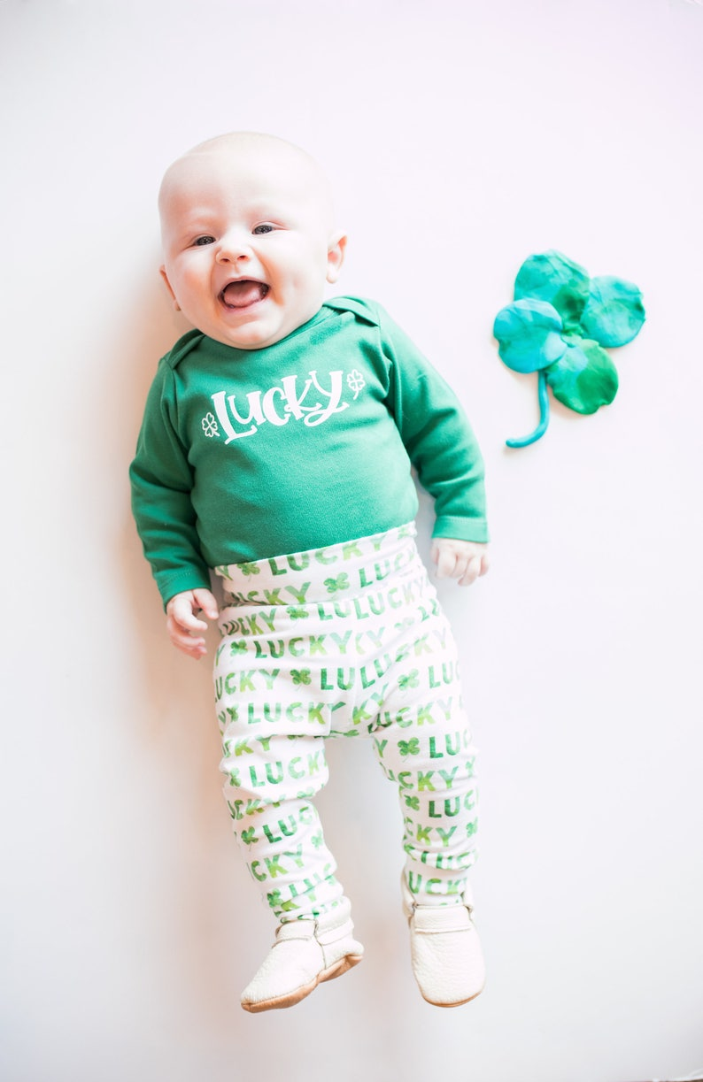 43bd7146 Lucky Shirt Baby. St. Patrick's Day Outfit Green | Etsy