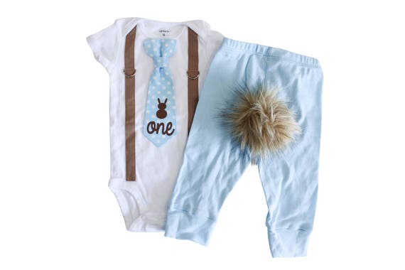 Easter Birthday Outfit For Boys Some Bunny Is One Birthday Etsy