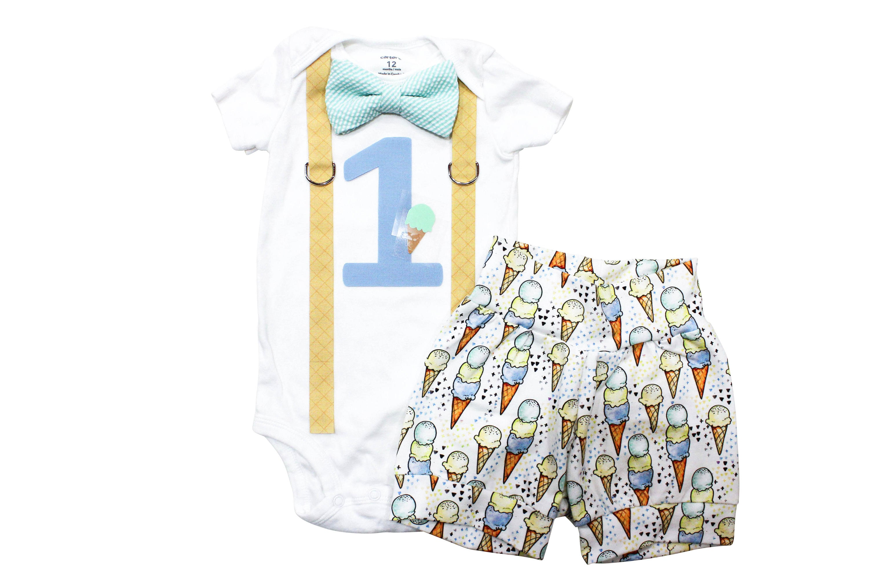 Ice Cream 1st Birthday Shirt Baby Boy First