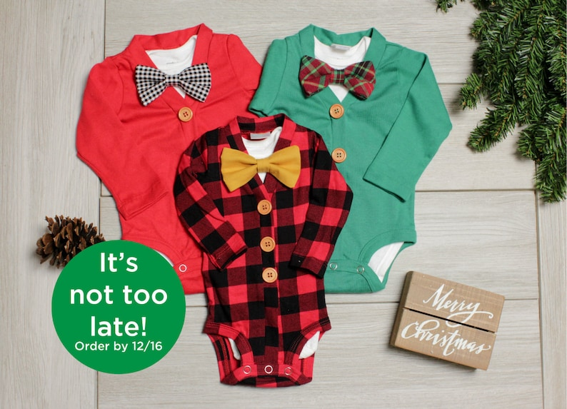 72e2a4c05 Baby Boy Christmas Outfit. Buffalo Plaid Baby Outfit. Red | Etsy
