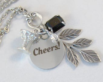 Champagne Toast,Personalized,Drink Necklace,Alcohol Necklace,Martini Necklace,Champagne Neckalce,New Years Eve,New Years Necklace,Pink Neckl