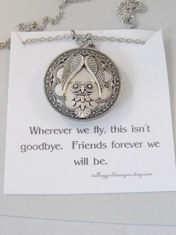 Kindred Spirit,Owl necklace,Owl Locket,Angel Necklace,Angel Locket,Silver Locket,Silver Owl,Silver,Woodland,Antique Locket,valleygirldesigns