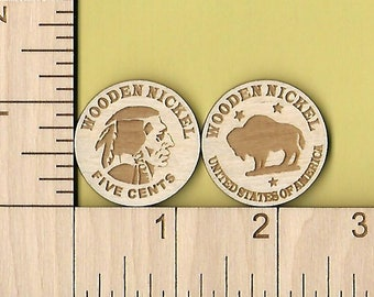 Wooden Nickels Etsy