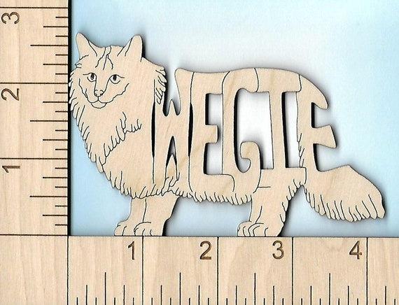 Sphynx Hairless Cat laser cut and engraved wood Magnet Great Gift Idea