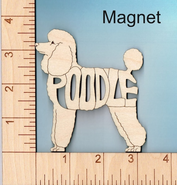 Hovawart Dog laser cut and engraved wood Magnet Great Gift Idea