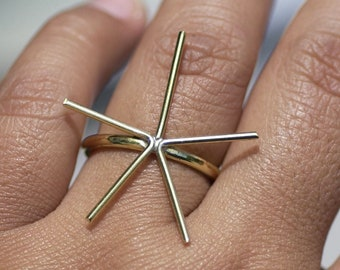 Handmade Claw Ring Setting For Natural Stones - Any Size - Brass, Bronze, Copper, or Nickel Silver