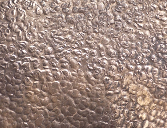 Textured Metal Sheet Antique Hammered Pattern 6 X 2 Inches