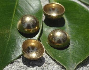 Solid Bronze 12mm Dapped Half Sphere Finding Jewelry Metalworking Finding