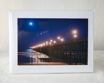 Greeting Card: UFO's Over The Pier