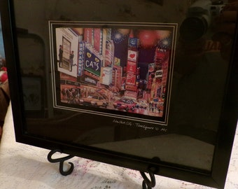 Vintage 3-D Wall Decor Picture, New York City, Times Square, Broadway Show Cats, Pre 2000, Shadow Box,  Excellent
