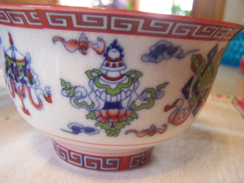 Soup Bowl Japan,Hand Painted Famille Rose Porcelain Asian Rice Bowl Vintage