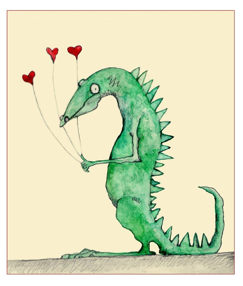 Dragon with Hearts image 0