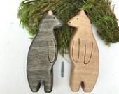 bear wooden toy, wood animal toys,  waldorf toys, bear figurine, boho toys