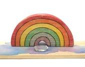 wooden rainbow toy, rainbow waldorf toy, rainbow decor