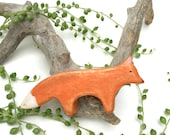 fox waldorf toy , wooden fox toy, fox figurine, wooden waldorf toys, wooden toys