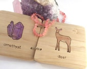 wooden children's book, handmade books for baby, modern baby toys, coffee table book