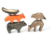 wooden toys, forest animal wooden toys, deer wooden toy, waldorf toys, boho toys