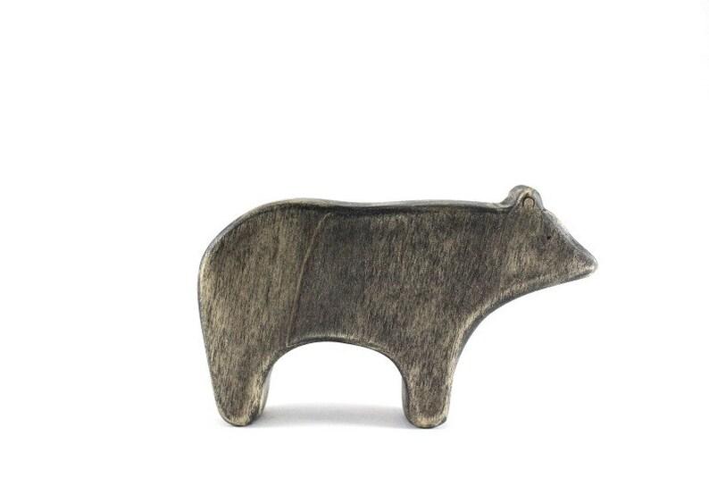 waldorf animal toys wooden toys wooden bear toys waldorf toys toy play set black bear figurine