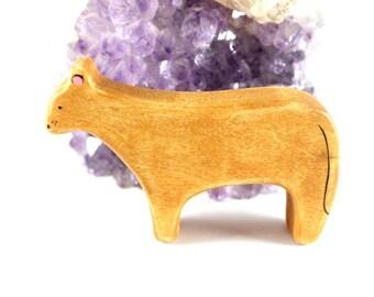 wooden toys, wooden lion toy, lioness figurine, waldorf toys, wooden toy animals