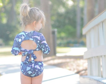 12M-8T kavkas Baby//Toddler//Infant Rash Guard Swimsuit for Girl One Piece Bathing Suit Cute Cartoon Bikini