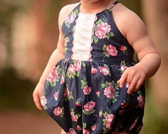 Baby Amsterdam Top, Dress, Romper and Skirted Romper PDF Sewing Pattern, including sizes newborn - 4 years, Baby Pattern