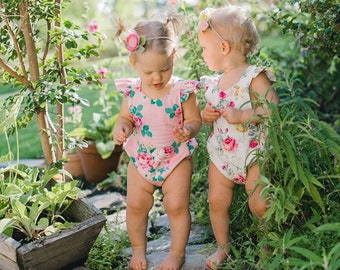 Baby Astoria Playsuit PDF Sewing Pattern, including sizes 0-3 months - 4 years, Baby Pattern