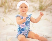 Maui Baby One- and Two Piece Swimsuit PDF Sewing Pattern, including sizes newborn through 4 years, Pattern for Babies