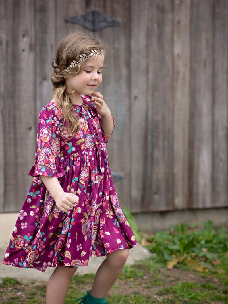 Florence Top and Dress PDF Sewing Pattern including sizes 12 image 0