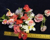 "Vintage Millinery Flower Collection Pink + Lilac Shades 1 1/4 -2"" for Hat Wedding or Hair H471"
