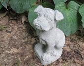 8 quot Tall Cement Boxer Puppy Dog Garden Art Concrete Statue Pet Memorial