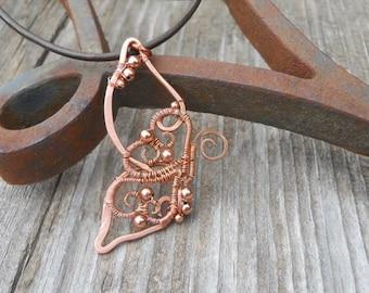 Flutterby a Copper Butterfly pendant/necklace