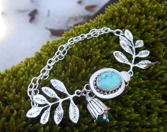 Woodland Branches Bracelet w/ Turquoise Clasp