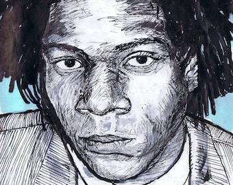 Portrait of Jean Michel Basquiat