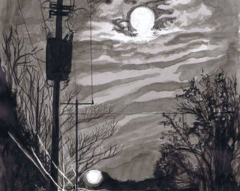 Nighttime full moon stroll