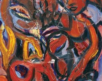 Tiger Lilies - Original Oil Painting digital print