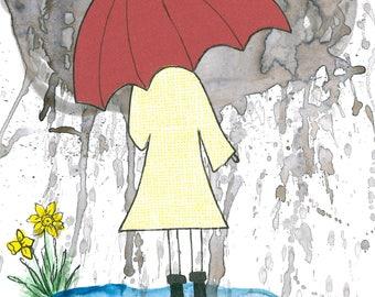 Rainy Day 5x7 art print