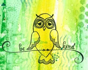 Be Kind 4x6 Art Print