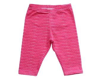 459ff203b9f32c Capri Leggings   Hot Pink Tic Tac   baby girl leggings, pink leggings,  toddler leggings, girl leggings