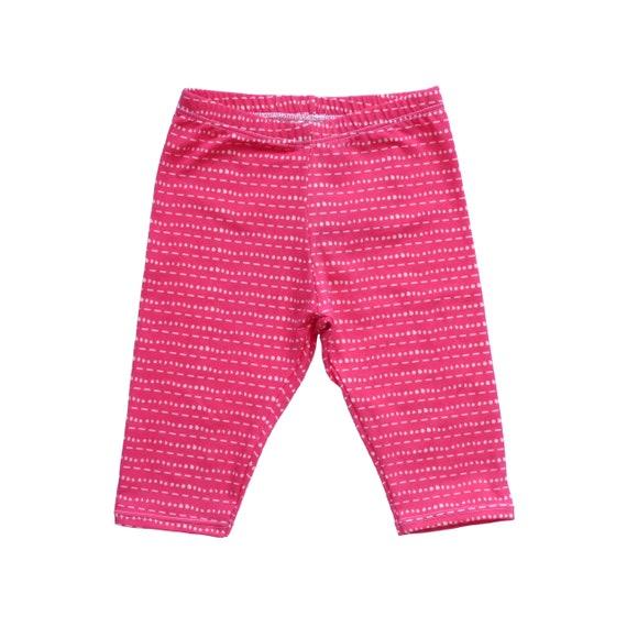 Capri Leggings Hot Pink Tic Tac Baby Girl Leggings Pink Etsy
