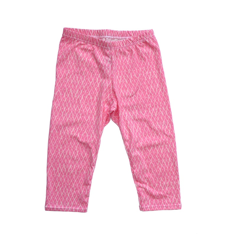 e4bcbd2b25882d Capri Leggings Pink Diamond 2T baby girl leggings pink   Etsy