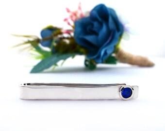 Genuine 5mm Sapphire Tie Tack