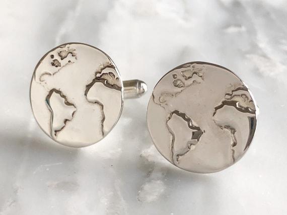 the world travlers colleciton groomsmen Compass Cufflinks groom keepsake gift for men
