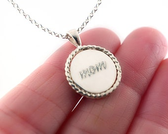 Mom Necklace, Mother's Day Gift, New Mom Gift, Mother's Necklace in Sterling Silver