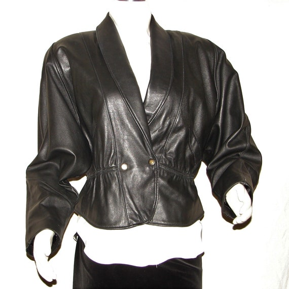 Vintage Reed Brand Black Leather Jacket Circa 1990