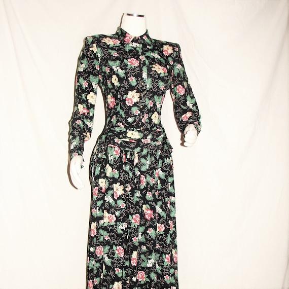 Stunning Jonathan Logan Floral Dress Circa 1940's