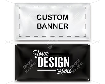 Custom Vinyl Banner, Full Color Personalized Design, Happy Birthday, Congratulations, Welcome, Baby Shower, Graduation Sign, iWantMyStyles