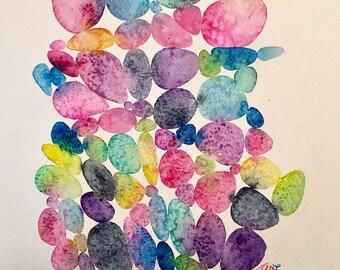 Original abstract watercolor painting
